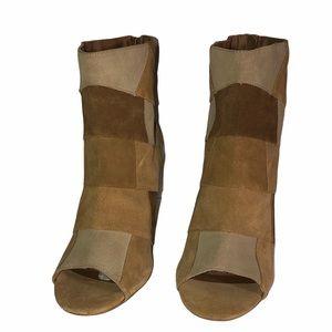 TORRID Sz 11W Patchwork Peep Toe Bootie Heels